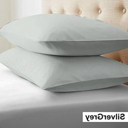 Solid Pattern 100% Egyptian Cotton Pillow Cases 400 Thread C