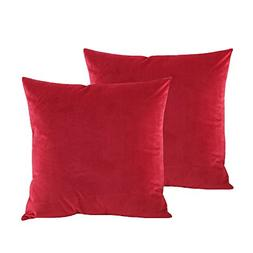 BLUETTEK Solid Velvet Throw Pillow Covers, Super Soft Luxury