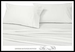 Solid White Standard Size Pillowcases, 2PC Pillow Cases, 100