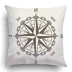 Emvency Square 20x20 Inches Decorative Pillowcases Wind Rose