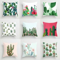 Square Solid Cotton Cushion Cover Case Decor Sofa Home Car T