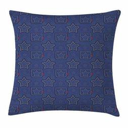 Star Throw Pillow Cases Cushion Covers by Ambesonne Home Dec