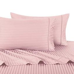 Stripe Pink King Size Pillowcases, 2PC Pillow Cases, 100% Co