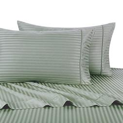 Stripe Sage Standard Size Pillowcases, 2PC Pillow Cases, 100