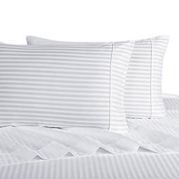 stripe white king pillowcases