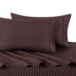 Deluxe' Striped Pair of Pillow Cases 100 Percent Egyptian