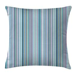 Striped Throw Pillow Cushion Cover by Ambesonne, Blue Purple