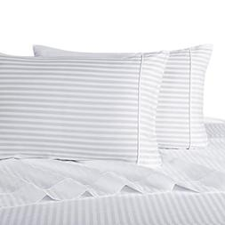 sheetsnthings Striped 600 Thread Count, 100-Percent Cotton,
