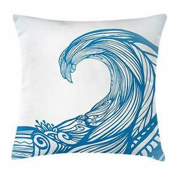 Surf Throw Pillow Cases Cushion Covers by Ambesonne Home Dec