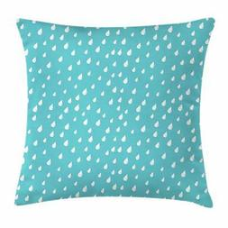 Teal Throw Pillow Cases Cushion Covers by Ambesonne Home Dec