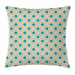 Teal Throw Pillow Cases Cushion Covers Ambesonne Home Decor