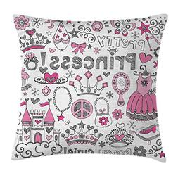 Ambesonne Teenager Decor Throw Pillow Cushion Cover, Fairy T
