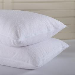 Terry Cotton Pillow Protector Pillowcases Dust Proof Water R