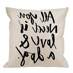 HGOD DESIGNS Throw Pillow Case Dog All You Need is Love and
