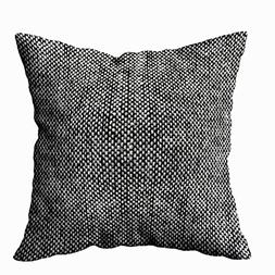 Capsceoll Throw Pillow Cases, Charcoal Gray Tweed Fabric Tex