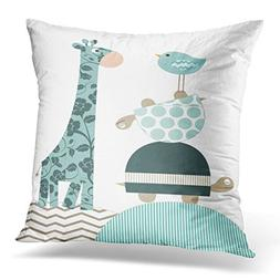 Golee Throw Pillow Cover Gray Baby Nursery and Kids Room Pin