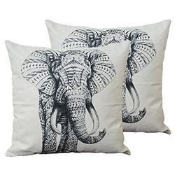 Set of 2 Jahosin Throw Pillow Covers 18 X 18 Inches ,Decorat
