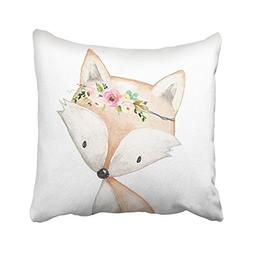 Accrocn Throw Pillow Covers Cute Cartoon Lama Alpaca Unicorn