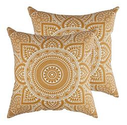 TreeWool Throw Pillow Cover Mandala Accent Pure Cotton Decor
