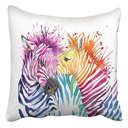 throw pillow covers funny zebra