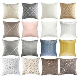 throw pillow covers geometric jacquard chenille faux