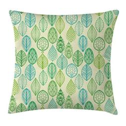 Nature Throw Pillow Cushion Cover by Ambesonne, Hand Drawn V