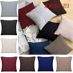 Throw Waist Pillow Cases Sofa Decor Outdoor Square Cushions