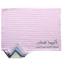 Angel Baby Toddler and Travel Pillow Case Cover - PINK, 100%