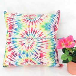 toddler pillow cases tie dye swirl rainblow cushion cover pi