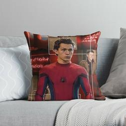 Tom Holland Throw Pillow Cases, Spiderman Pillow Cover, Marv