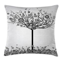 Tree of Life Throw Pillow Cases Cushion Covers Ambesonne Hom