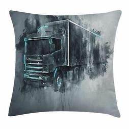 Truck Throw Pillow Cases Cushion Covers by Ambesonne Home De