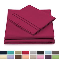 Cosy House Collection Twin Size Bed Sheets - Fuchsia Luxury