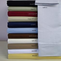 "Two Standard Pillowcases 20x30"" each, 100% Microfiber"