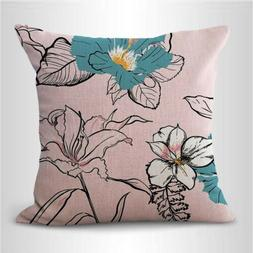 US SELLER- pillowcases home decoration Vintage botanical cus