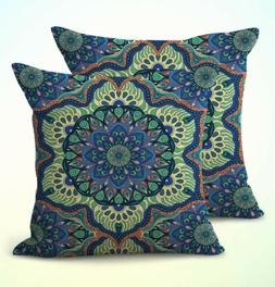 US Seller- set of 2 home decoration pillow cases mandala boh