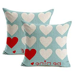 Foozoup Valentine's Day Throw Pillow Cases Be Mine Love Hear