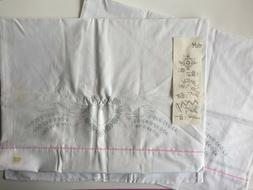 Vintage Heart Pattern Pillow Cases to Embroider 100% Cotton