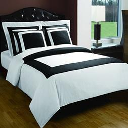 10-PC White & Black King size Hotel Down Alternative Bed in