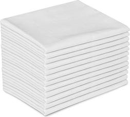 White Pillowcases, Standard Size, 42 x 34 T-180 Percale, 12-