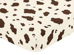 Sweet Jojo Designs Wild West Cowboy Fitted Crib Sheet for Ba
