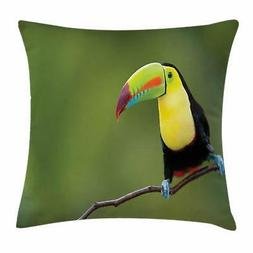 Wildlife Throw Pillow Cases Cushion Covers by Ambesonne Home