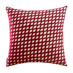 HWY 50 Wine Red Couch Throw Pillows Covers 18 x 18 inch, 1 P