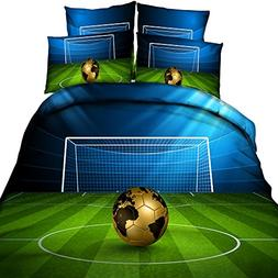 EsyDream World Cup Soccer Ball Bedding Sets Boys Men's Footb