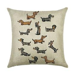 Acelive New Year's Gifts 18 x 18 Inches Happy Dogs Pattern C