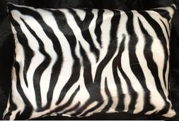 Zebra Pillow Shams Standard, Queen, or King Faux Fur Pillow